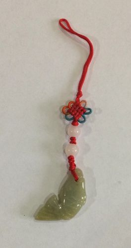 Tassel with 25mm jade fish