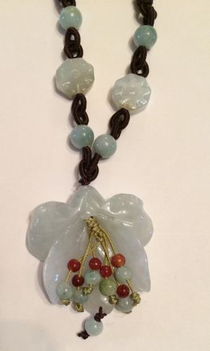 Jade Orchid necklace