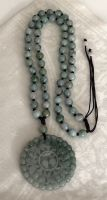 Large Jade 5 Bats Pendant with Jade Beads Necklace