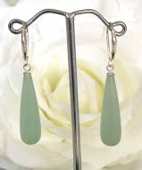 Jade Long Teardrop Earrings