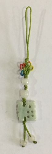 Tassel with 15mm jade good fortune